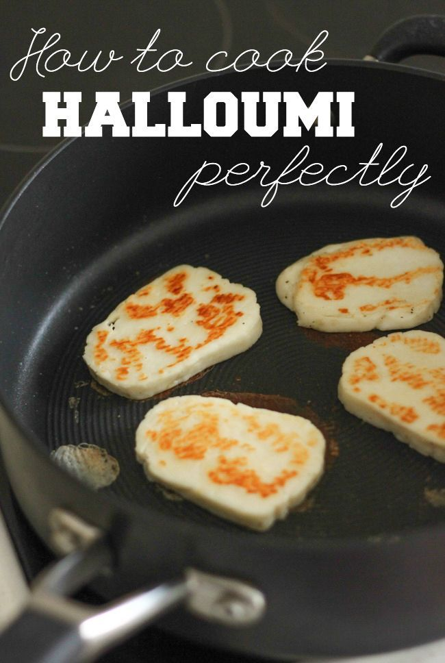 How to cook halloumi perfectly - it's easier than you might think! This method will give you gooey slices of cheese, with a wonderfully crispy crust.