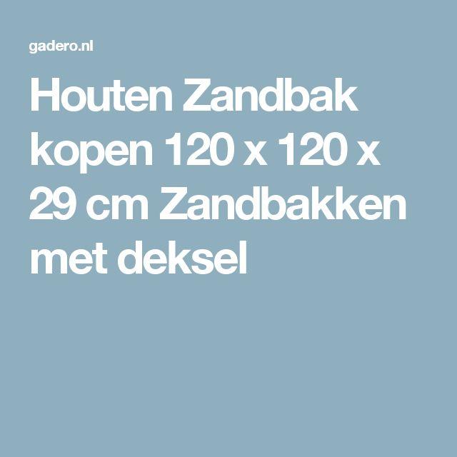 Houten Zandbak kopen 120 x 120 x 29 cm Zandbakken met deksel