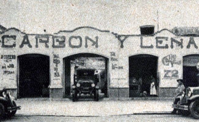 Expendio de Carbon y leña 1932.