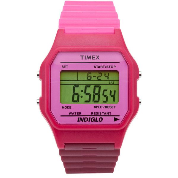 Timex Classic two-tone pink watch (1 840 UAH) ❤ liked on Polyvore featuring jewelry, watches, women, pink watches, timex wrist watch, pink jewelry, stainless steel jewelry and pink digital watches