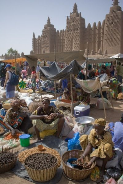 Timbuktu Mali, one of the greatest cities of trade and learning. This was a center of scholarship, and a trade hub with access to the Niger River, and across the Sahara to Morocco.