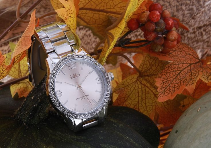 Silver IKKI watch with Swarovski crystals