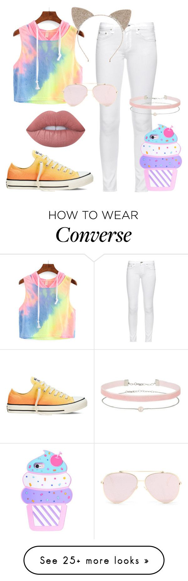 """""""Untitled #515"""" by hey-there-its-kylah on Polyvore featuring Converse, rag & bone, Lime Crime and Miss Selfridge"""