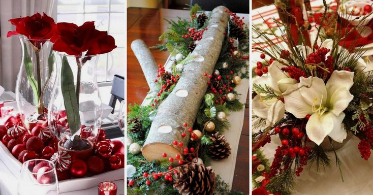 20 fant sticos centros de mesa navide os mesas - Centros de mesas navidenos ...