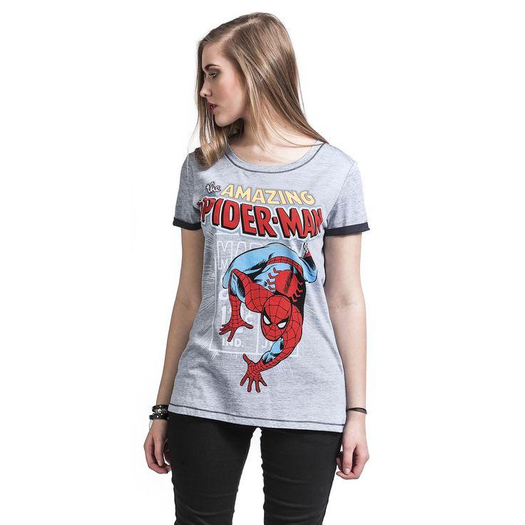 """Maglietta donna """"Comic Style"""" di #SpiderMan."""