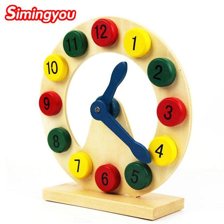 Simingyou Wooden Montessori Toys Cartoon Clock Geometric Shape Matching Children's Educational Toys B40-DDM09 Drop Shipping #Affiliate