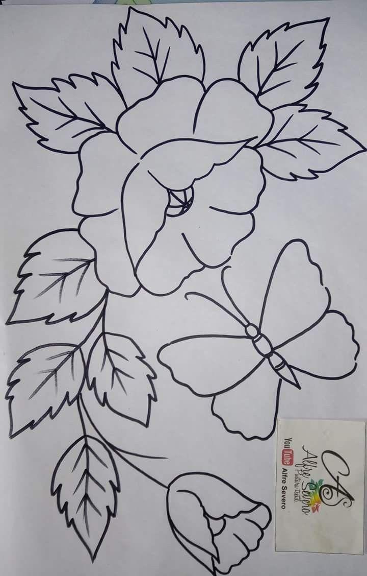 Risco De Flores Bordados Crewel Padroes De Quilling Riscos