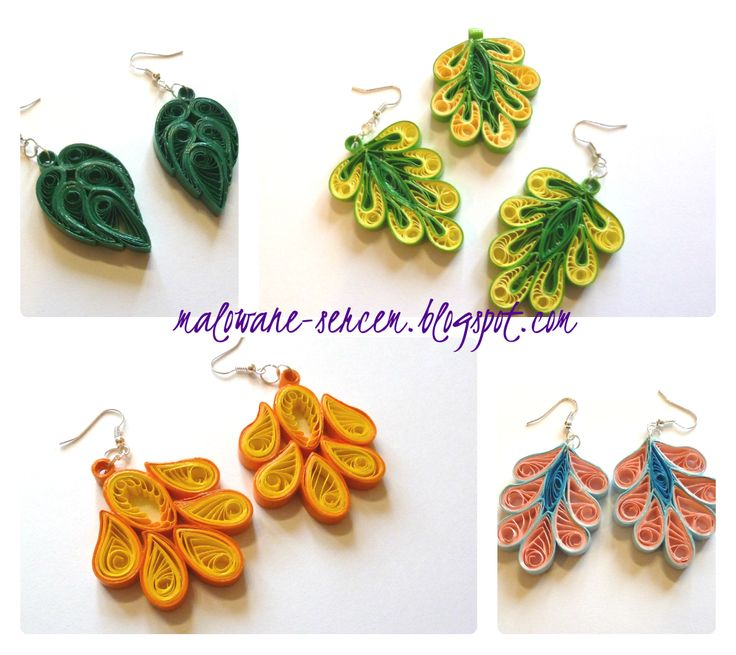 Quilling earrings - by: blogspot on photo