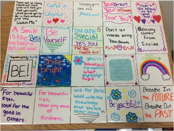 Girls Group Self Esteem Tiles