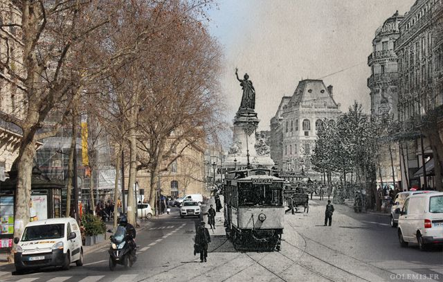 Place de République dans le 11e arrondissement (Crédit Image : Golem 13)