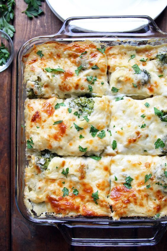 Baked Tortellini and Broccoli with Creamy Cauliflower Sauce