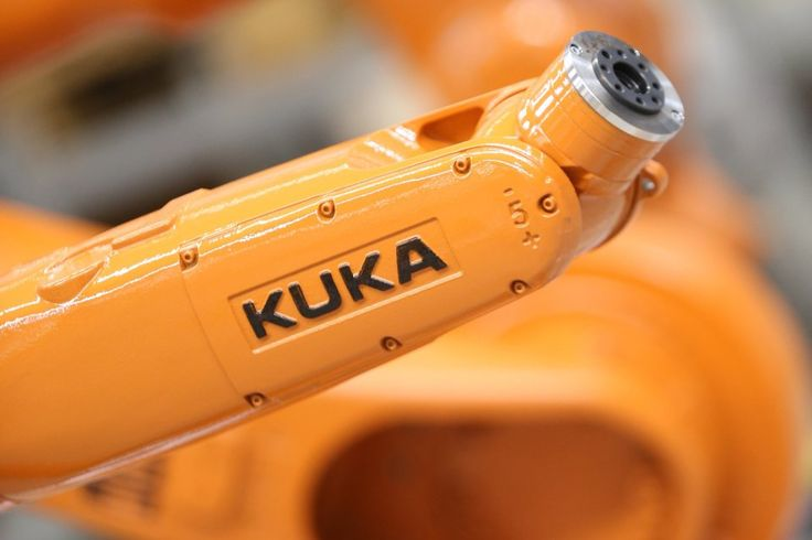 Kuka robots seen in a production facility located at the Kuka headquarters in Augsburg, Germany, March 22, 2017....