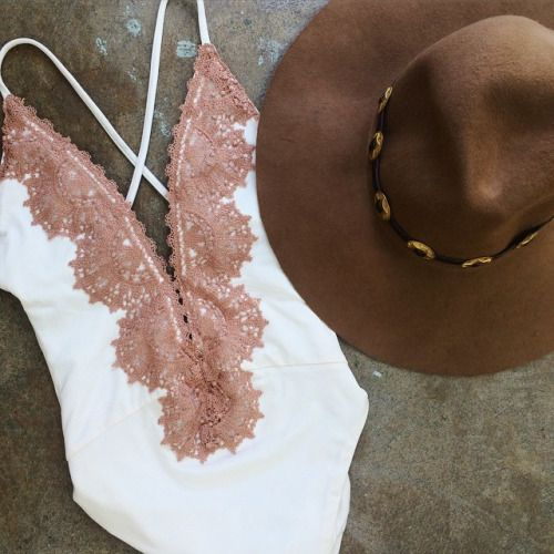 Beautiful bathing suit.