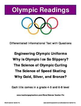 Winter Olympics Readings Set