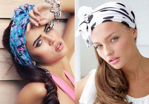 как красиво повязать платок +на голову летом