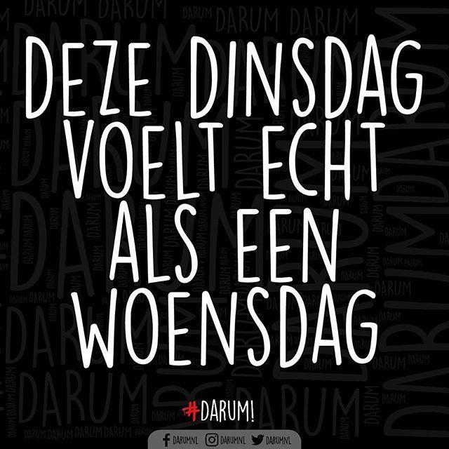 Wie is nog meer de dagen kwijt? #darum #woensdag of #dinsdag of is het #maandag