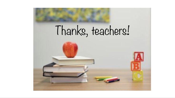 #teacherappreciation #thankyous #teachers #highschool #thankateacher #parents #students #weloveteachers