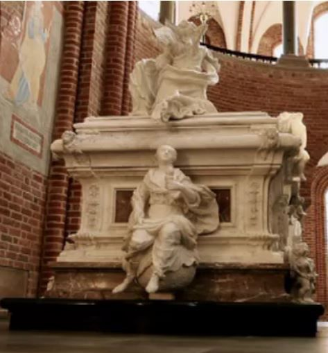 Louise's sarcophagus at Roskilde Cathedral