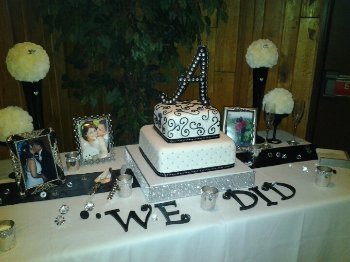 Wedding cake table idea wedding decoration ideas pinterest for Wedding cake table decorations