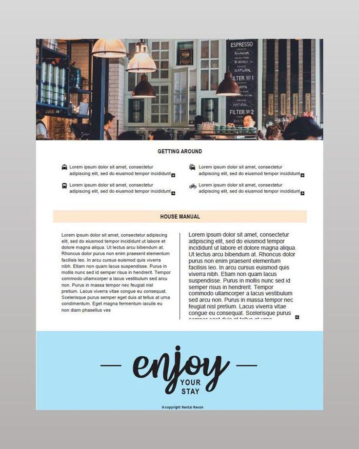 Airbnb House Manual / Guide/ Guidebook /