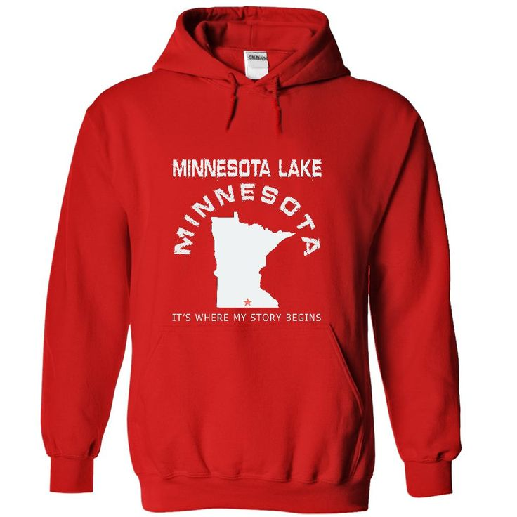 Minnesota Lake-MN12If YOU were born, grew up, or lived in Minnesota Lake, Minnesota then YOU remember, believe its where YOUR STORY begins! These T-Shirts and Hoodies are perfect for you! Get yours now and wear it proud!Minnesota Lake