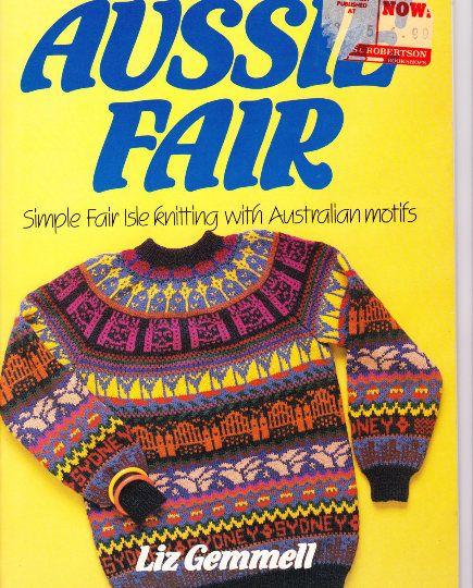 Australian Knitting Book Gift for Her 80s Knitting Patterns