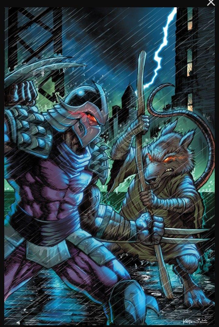 TMNT Teenage Mutant Ninja Turtles Master Splinter and The Shredder