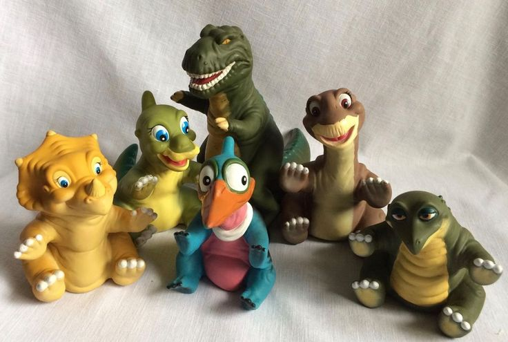 1988 Land Before Time Dinosaur Puppets Pizza Hut Full Set Ducky Cera Petrie More #PizzaHut