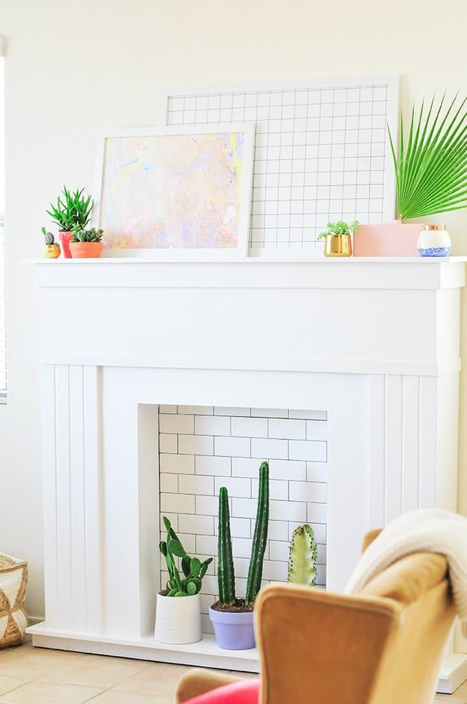 How To DIY a Fake Fireplace (or Dress Up The Real One You Already Have)