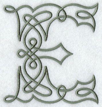 Celtic Knotwork Letter E - 5 Inch