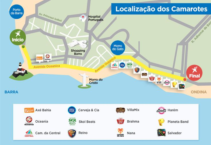 Falta pouco para chegar o carnaval 2016! Por conta disso, preparamosum mapa ilustrativo da localização dos principais camarotes</strong
