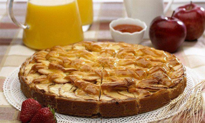 Быстрый яблочный пирог без муки 63 ккал