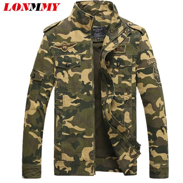 Check lastest price LONMMY M-6XL Cotton mens jackets and coats man Army Military jacket mens Bomber jacket men coat brand clothing windbreakerWinter just only $33.43 - 44.09 with free shipping worldwide  #jacketscoatsformen Plese click on picture to see our special price for you