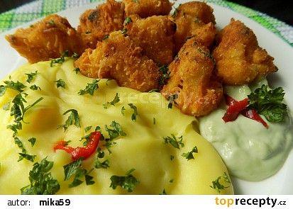 Květák pečený v sýrové strouhance recept - TopRecepty.cz