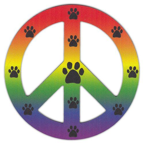 Peace Sign Shaped Magnets (See Through): Rainbow Design w/Paw Prints (LGBT) Crazy Sticker Guy http://www.amazon.com/dp/B00JJ6GU32/ref=cm_sw_r_pi_dp_ln.Ovb1CGD0SF
