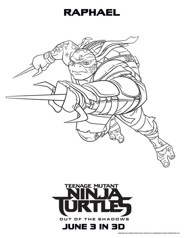 Ninja Turtle Raphael Coloring Pages