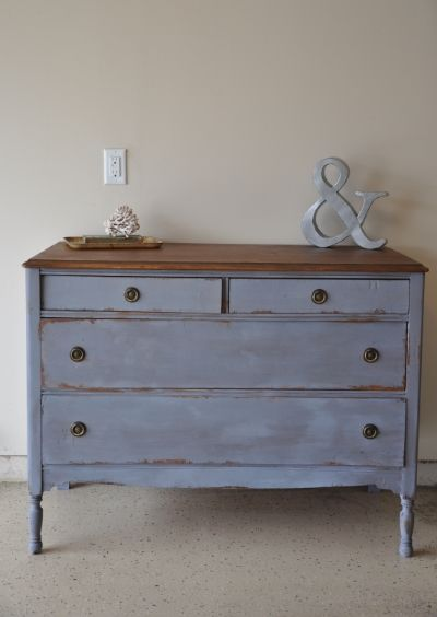 Fab Rehab Creations: Dresser in Miss Mustard Seed's Dried Lavender and Tufted Balloon Chairs