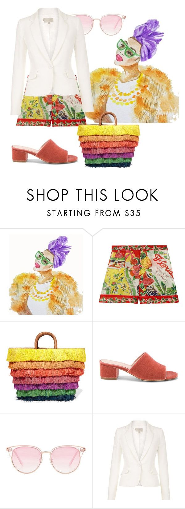 """""""Summer wonders"""" by sofiacalo ❤ liked on Polyvore featuring Anna Sui, Kayu, Raye, Le Specs and Hobbs"""