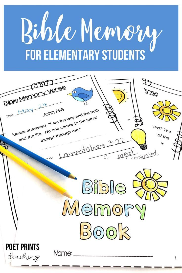 Help your elementary aged kids in Children's Church, Sunday School, or a Christian school to memorize God's word with a Bible Memory pack that has 21 essential verses.
