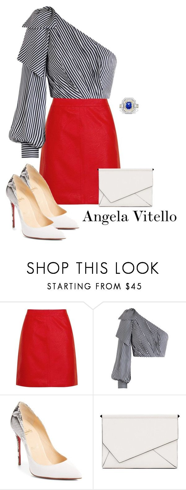 """""""Untitled #1081"""" by angela-vitello on Polyvore featuring Topshop, Zimmermann, Christian Louboutin, Kendall + Kylie and Effy Jewelry"""