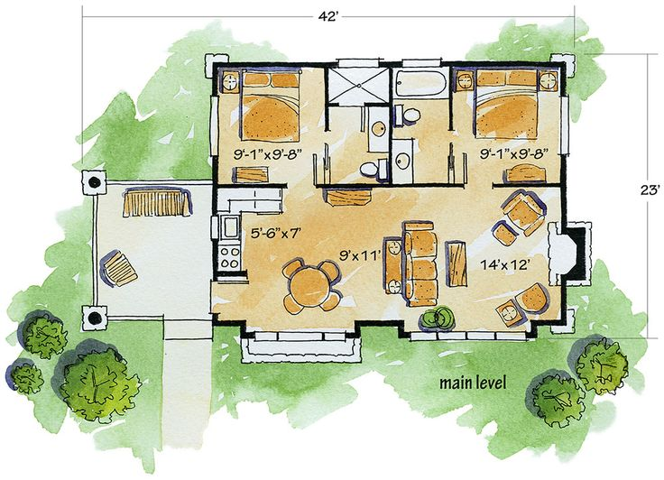 Weekend Mountain Escape - 11529KN | 1st Floor Master Suite, CAD Available, Cottage, Log, Mountain, PDF, Photo Gallery, Tiny House, Vacation | Architectural Designs