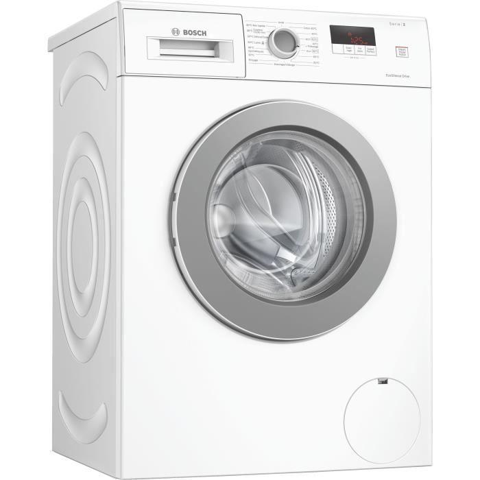 Bosch Waj28017ff Lave Linge Frontal 7kg 1400 Tr Min Classe A Blanc En 2020 Lave Linge Lave Linge Frontal Et Programme De Lavage