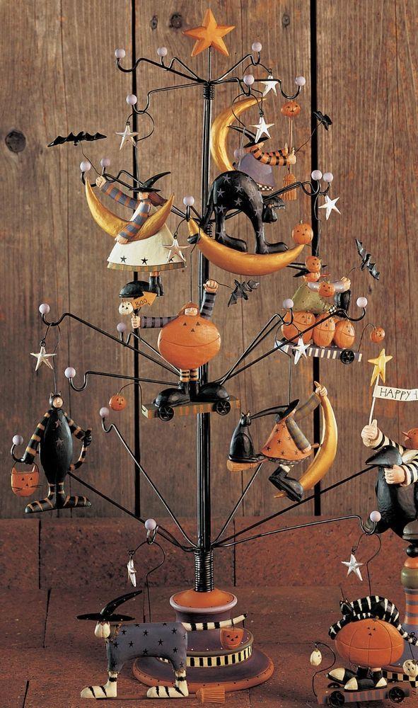 """Williraye Studio """"Fall Wire Ornament Tree"""" Ornaments"""