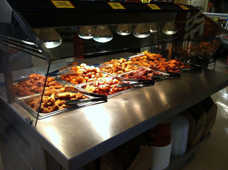 Grocery store grand reopening wing bar albertsons