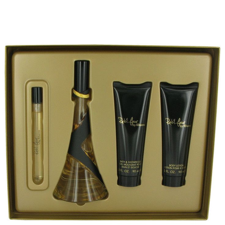 Reb l Fleur by Rihanna_Gift Set-100mlEDP+90mlBody Lotion+90mlShowerGel for Women
