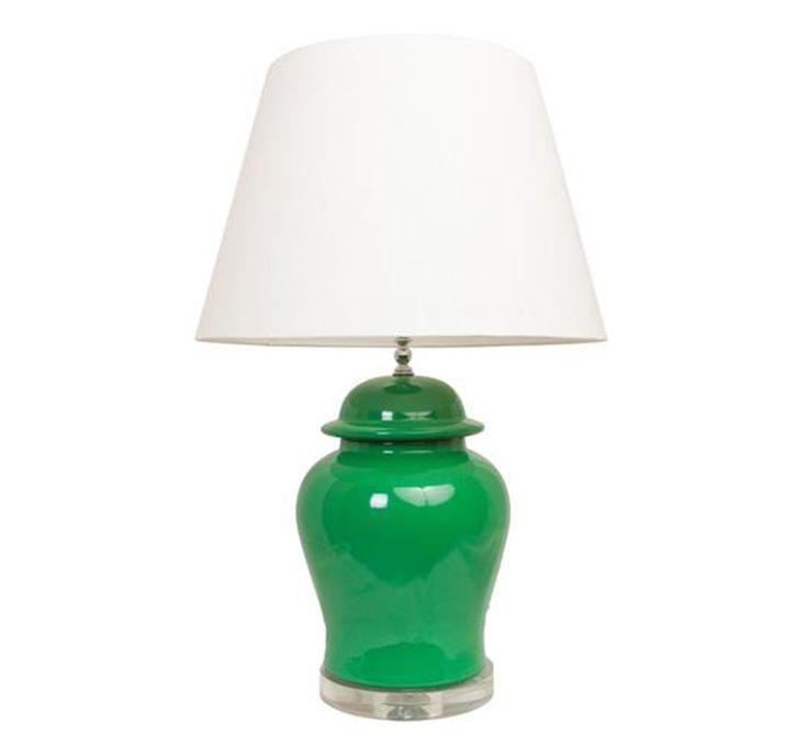 Green Ginger Jar Lamp