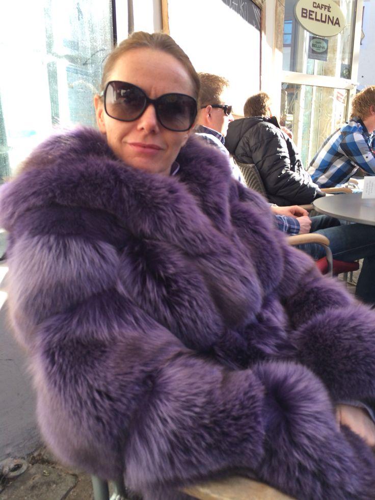 Buy Kevork Kiledjian Women's Purple Fox Fur Coat. Similar products also available. SALE now on!Price: $4,