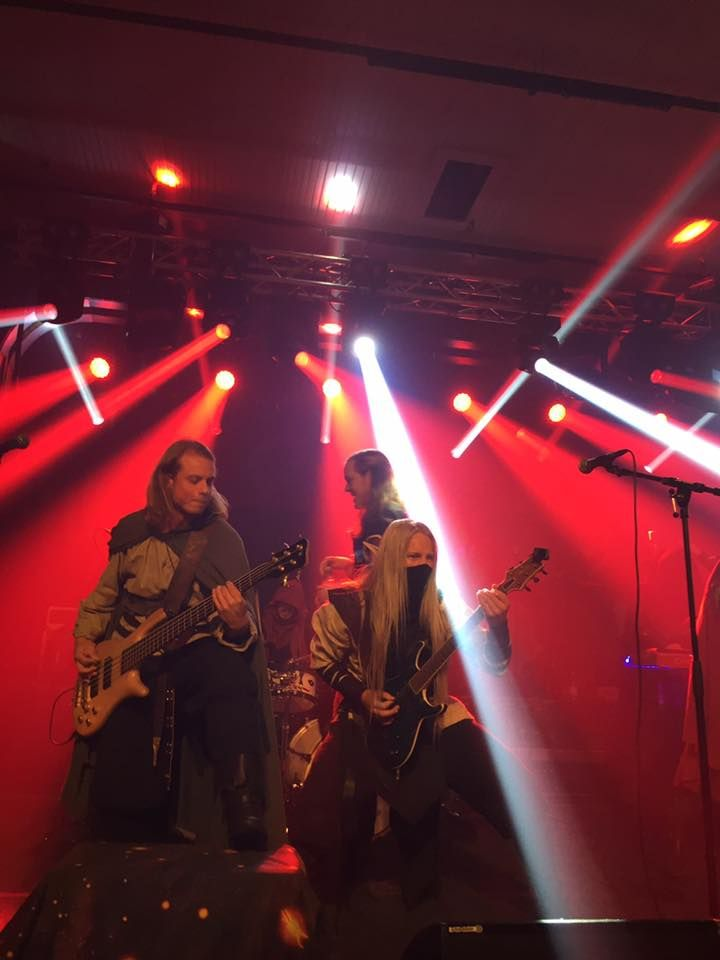 Twilight Force and Stormhold ⚫ Photo by Emma Waldau ⚫ Huskvarna 2016 ⚫ #TwilightForce #music #metal #concert #gig #musician  #Aerendir #Born #singer #vocalist #frontman #guitarist #guitar #ninja #mask #armour #armor #bracers #tattoo #beard #playing #coat #earrings #leather #bass #bassist #blond #longhair #show #photo #fantasy #magic #cosplay #larp #man #onstage #live #show #celebrity #band #artist #performing #Sweden #Swedish #Huskvarna #FolketsPark