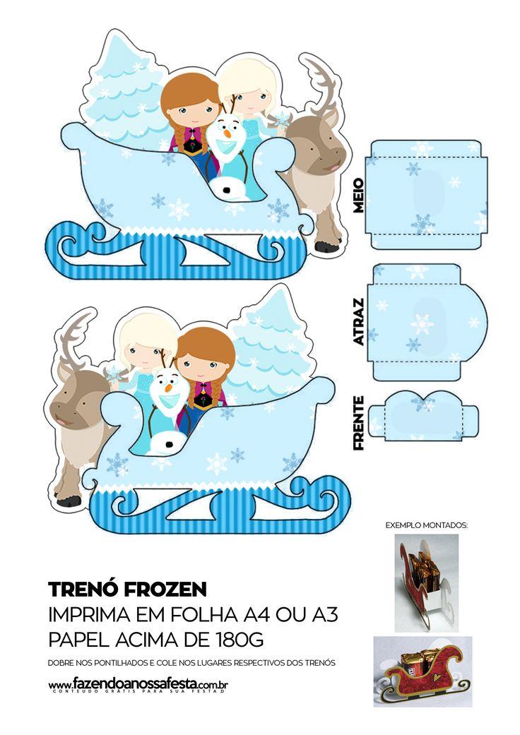 Caixa Trenó Frozen                                                                                                                                                     Mais