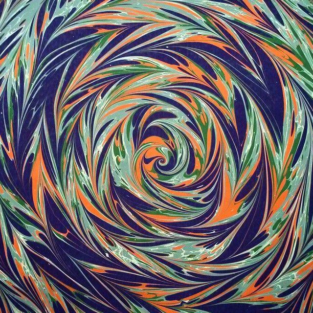 Whirlpool series Vol.2 #ebru #marbling #turkish #papermarbling #art #whirlpool #nightingalesnest #bülbül #yuvası #mor #yesil #turuncu #purple #green #orange #nofilter #swirl